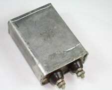 1x 2mfd 1500VDC Hermetically Sealed Oil Capacitor 2uf 1500V 1,500 Volts DC