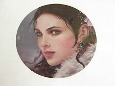 Retired HAED Nene Thomas counted X-stitch chart-Ornament-Snow Girl-Lge Format
