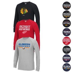 NHL Reebok Authentic Locker Room Longsleeve PlayDry Ultimate Tee T-Shirt Men's
