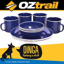 OZTrail 12 Piece Enamel Dinner Set
