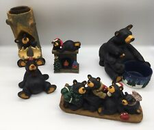 Lot of 5 Bear Foots By Jeff Fleming Big Sky Carvers Hearthside Sparky Candle