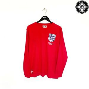 1966 MOORE #6 England Retro Umbro Away Football Shirt Word Cup 66 (XXL) West Ham