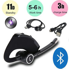 V8S USB Wireless Bluetooth V4.0 Headset Stereo In-ear Earphone With Call Mic