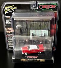 JOHNNY LIGHTNING Christine 1958 Plymouth Fury with Garage Resin Facade 1:64