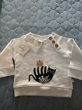 NWT! Hallmark Baby toddler Fall Cat pumpkin sweatshirt 3-6 months clothing