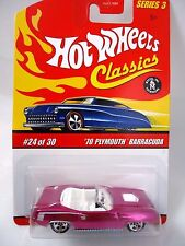Hot Wheels Classics Series 3 Spectraflame magenta '70 Plymouth Barracuda #24/30