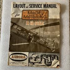 ho slot cars pre 1970, Model Motoring Layout And Service Manual