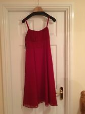 M&S AUTOGRAPH Date Night Party Floaty Red Silk Strappy Dress UK10 BNWT RP £49.50