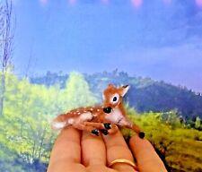 BABY FAWN HANDSCULPTED OOAK 1:12 dollhouse miniature realistic SCULPTURE