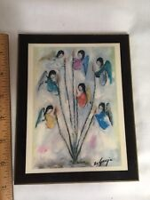 "De Grazia Gallery In The Sun Laminated Plaque Angels & Ocotillo 5"" x 7"" C- 2200C"