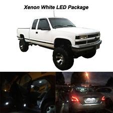 12 x White LED Interior Bulbs + License Plate Lights 1995-1998 Silverado Sierra