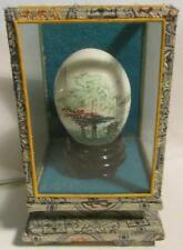 Mountain,  Shen Nung, Mie Chieng, painted egg in small display case
