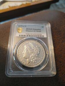 1879 CC Morgan dollars. PCGS - AU, details. Key date. A beauty