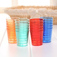 10pcs Disposable 30ml Glasses Cups Plastic Cup Neon Shot Colourful Bar Party/