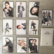 Twice Eyes Wide Open Preorder Photocard Full Set Style Version