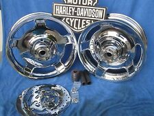 Harley FLH ROAD GLIDE WHEELS FLHX CHROME AIR STRIKES RIME FIT 09 & Later Touring