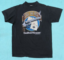 "Vtg 1992 Smith & Wesson ""Still The Best"" Black 3D Emblem T-Shirt XL Rare! Harley"