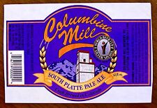 Columbine Mill Brewery SOUTH PLATTE PALE ALE beer label CO 12oz STICKER