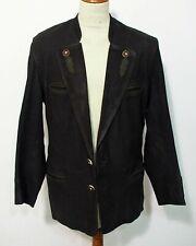 Trachten Leder Jacket Sakko von Itallo Grösse 50 Herren Nubuk C029