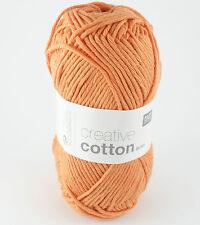 Rico Creative Cotton Aran 100% Cotton Knitting & Crochet Yarn - Smokey Orange 72