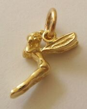 GENUINE SOLID 9ct Yellow Gold 3D TINKER BELL TINKERBELL DISNEY Charm/Pendant