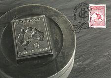 Australia 2013 MAXI Kangaroo & Map Cent First Australian Stamp 1v Maxicard