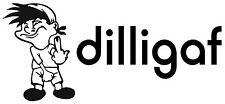 FUNNY DILLIGAF STICKER GUYS DILLIGAF BUMPER STICKER