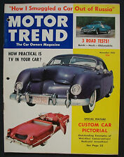 November 1952 Motor Trend (How Practical is TV on your Car?)