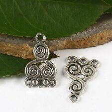 22pcs Tibetan silver immemorial connectors charms H2688