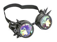 Kaleidoscope Black Steampunk Spike Goggles Punk Gothic Kaleidoscopic Goggles