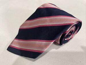Banana Republic Blue Pink Stripe Silk Tie $89