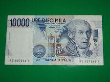 AUTENTICA 100% Banconota da 10.000 lire Alessandro Volta Repubblica Italiana