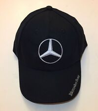 NIB Mercedes Benz With Logo Black Hat Cap Adjustable