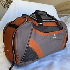 JEEP Duffel Gym Travel Bag, Orange Gray, Large Pockets, EUC