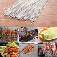 50/100 x BBQ Barbecue Skewers Metal Kebab Food Meat Grill Cooking Steel Sticks