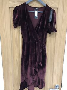 TopShop TFNC Burgundy Party Dress  Collection Size M