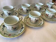 Villeroy & Boch-Heinrich-Indian Summer-Bone China Cup and Saucer-Set Of 8