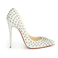Christian Louboutin Follies Spikes 120 Glitter Luminor UK5 EU38