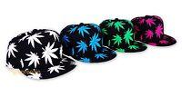 Marijuana Hat Snapback Weed Leaf Baseball Cap Cannabis 420 Headwear Adjustable
