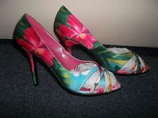 Sacha London Floral Wedding Flower High Heels Prom Summer Holiday Shoes 8 NEW