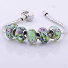 5pcs Bead glass Bead lot spacer lampwork Fit Wrist Bracelets love jewelry