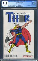 Mighty Thor 700 (Marvel) CGC 9.8  White Pages 1:50 Kirby Variant