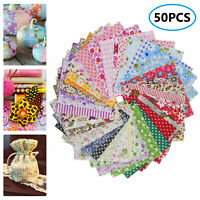 50/100PCS Lot 10cmX10cm Square Cotton Fabric Patchwork Quilting Craft Sewing DIY