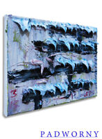 MODERN IMPRESSIONIST ART SIGNED REALIST OIL PAINTING ABSTRACT OCEAN LANDSCAPE NR