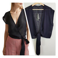 [ SABA ] Womens Carmel Tie Top NEW + TAGS RRP$159 | Size AU 10 or US 6