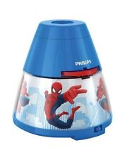 Philips Marvel Spiderman LED Projektor Tischleuchte Blau/rot 717694016