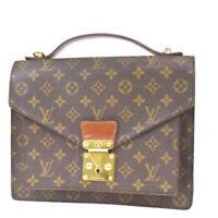 Authentic LOUIS VUITTON Monceau Hand Bag Monogram Leather Brown M51185 78MF197