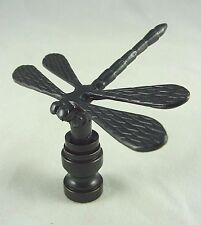 ANTIQUE  BRONZE  DRAGONFLY  ELECTRIC  LIGHTING  LAMP  SHADE  FINIAL      (NEW)
