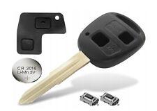 Toyota Yaris Corolla Echo 2 button REMOTE KEY FOB CASE+ TOY41 BLADE+ Repair Kit
