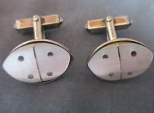 835 SILVER & MOP Cuff Links ~ Mother of Pearl Shell